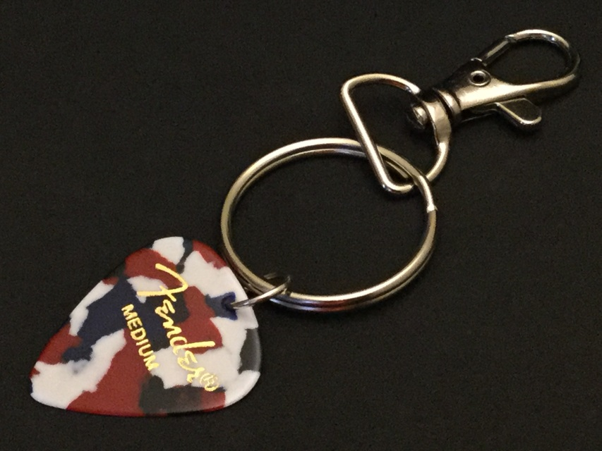 Fender Guitar Logo Keychain Red